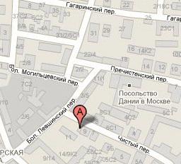 Карта проезда к консульству в Москве