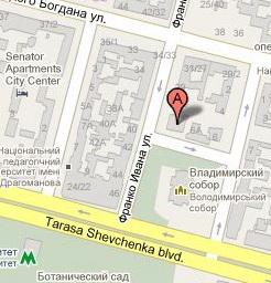 Карта проезда к посольству в Киеве