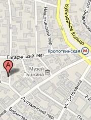 Карта проезда к посольству в Москве