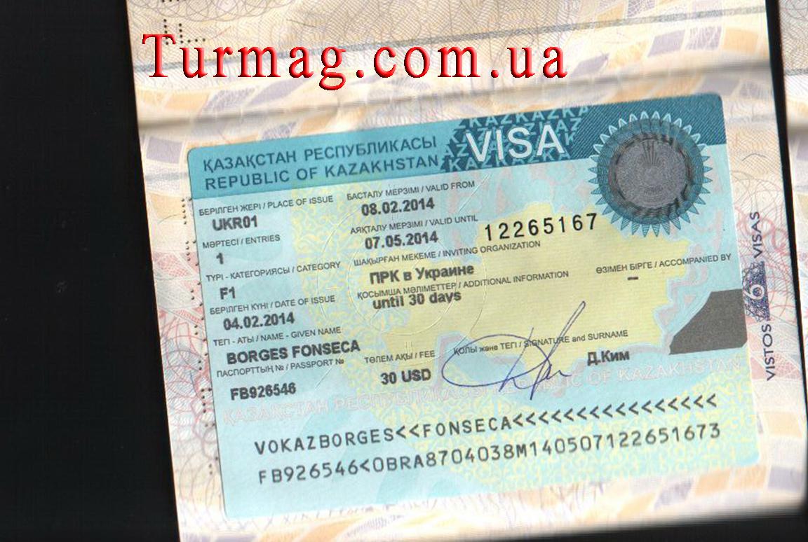 Виза в Казахстан. Получение и оформление казахстанской визы.