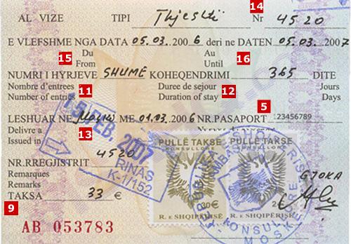 Виза в Албанию. Получение и оформление албанской визы.