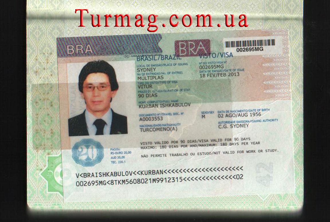 Виза в Бразилию. Получение и оформление бразильской визы.