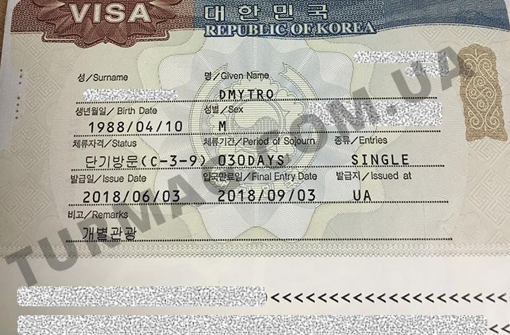 Виза в Южную Корею. Получение и оформление визы.