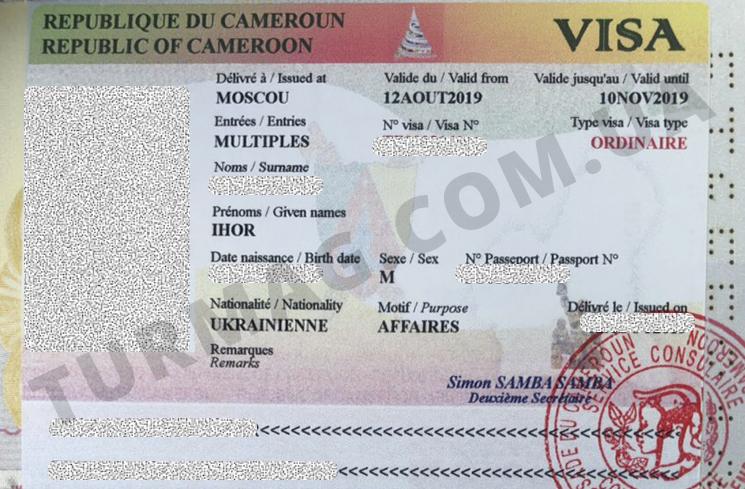 Виза в Камерун. Получение и оформление камерунской визы.