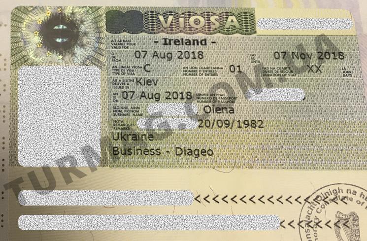 Виза в Ирландию. Получение и оформление ирландской визы.